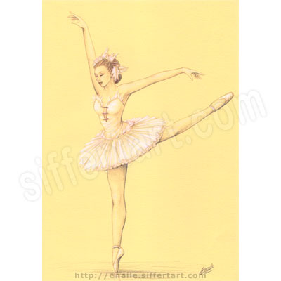 ballerina - colored pencils drawing - fine art prints available